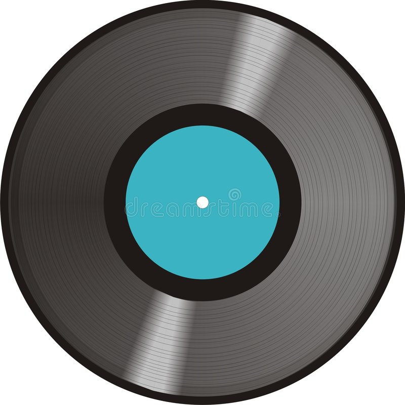A record royalty free illustration