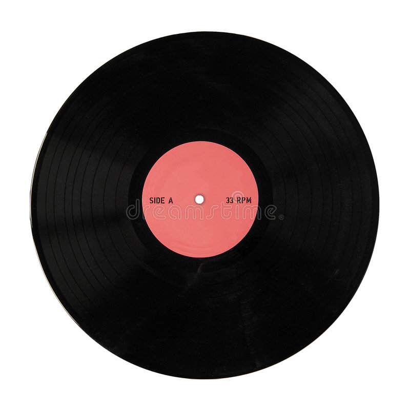 Record. Vintage vinyl record, 33 RPM, Side A royalty free stock images