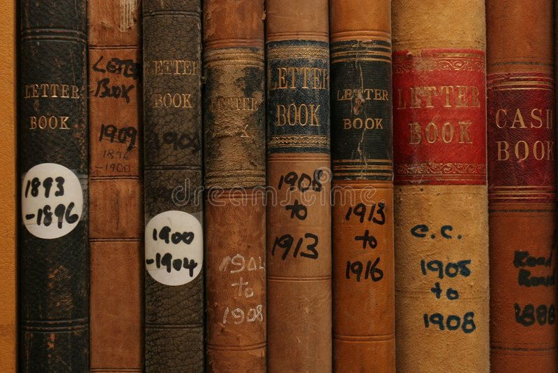 Record archivati dell'azienda immagini stock libere da diritti