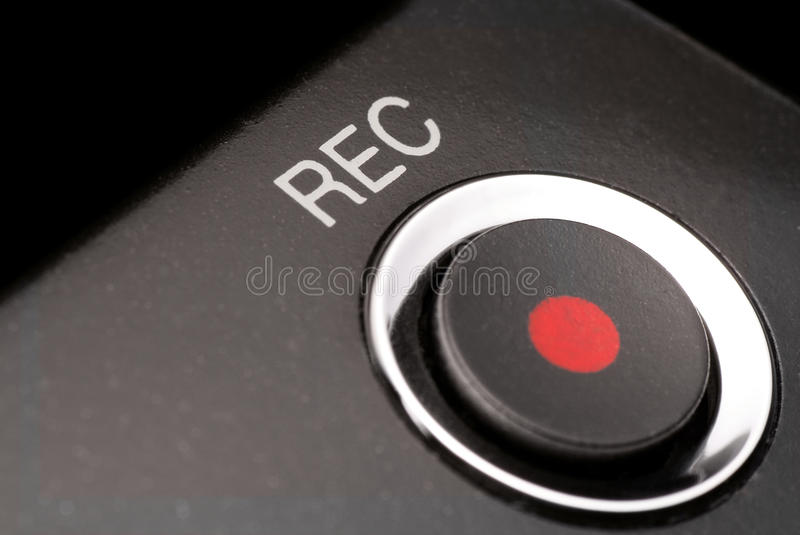 Record button stock image
