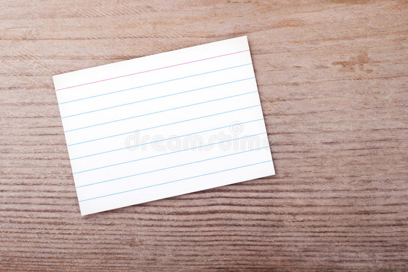 Record Card Stock Image