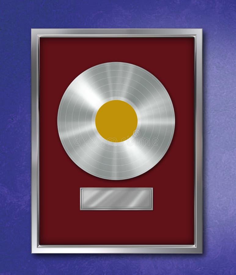 Record del platino immagine stock
