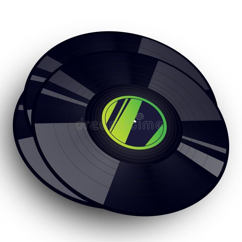 Record di vinile di musica fotografie stock