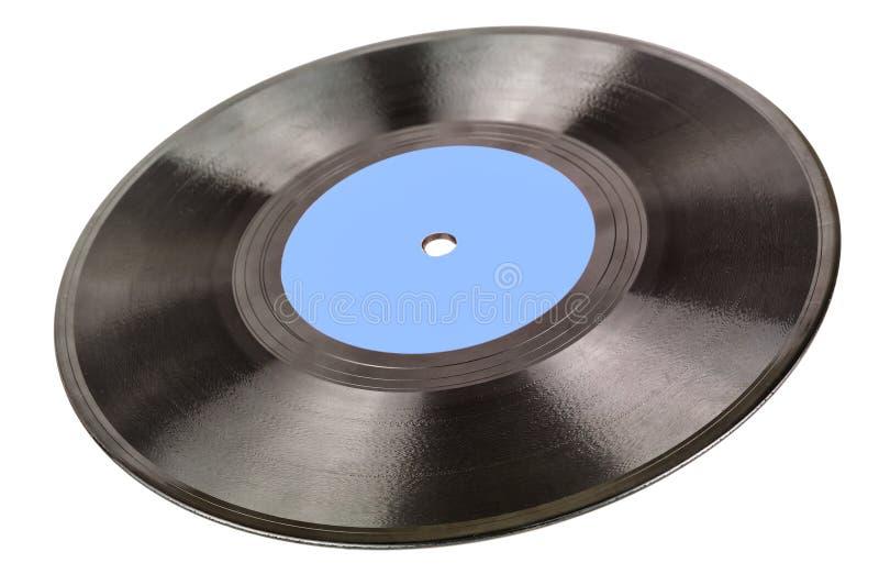 Record di vinile su bianco fotografia stock