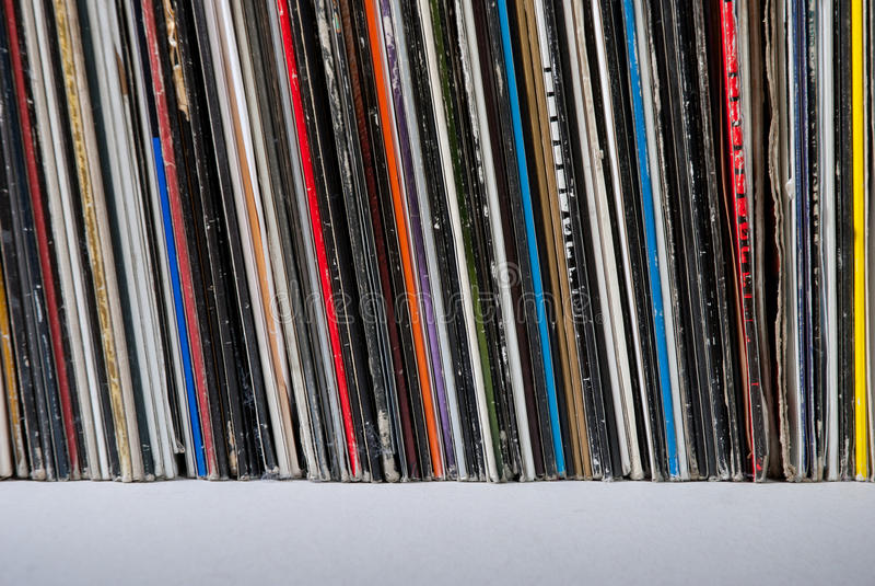 Record di vinile usati fotografie stock