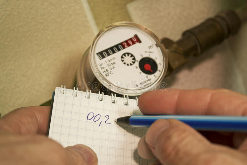 Record evidence of water measuring device royalty free stock photos