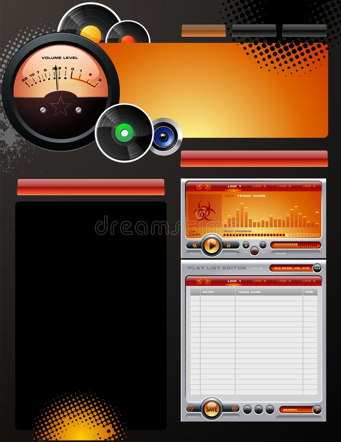 Record Label Template vector illustration