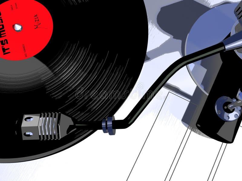 Record player royalty free illustration