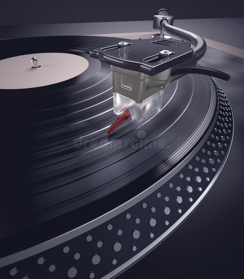 Download Record Player stock illustration. Image of music, classic - 28192788