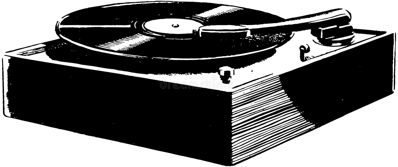 Record Player stock illustration