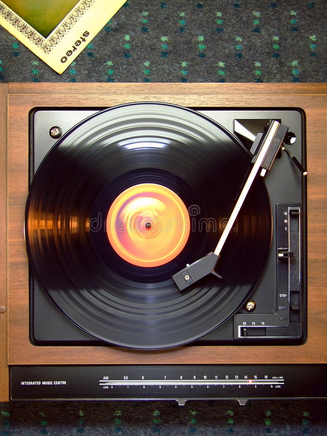 Record Player stock photography