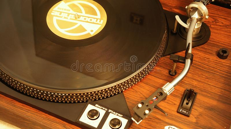 Record player old royalty free stock photo