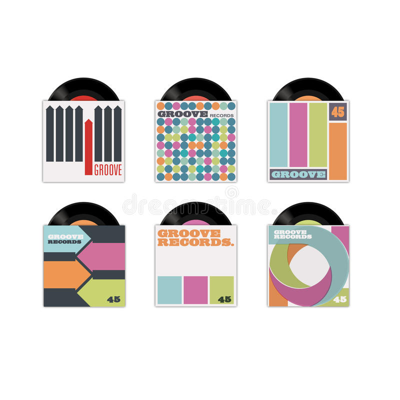 Download Record sleeves stock vector. Image of musical, round - 22670442