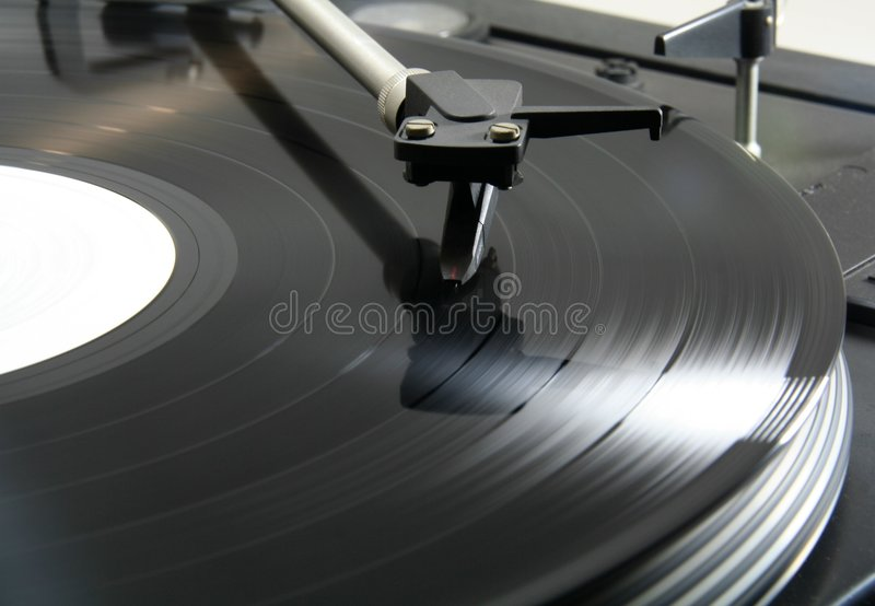 Record spinning stock photography