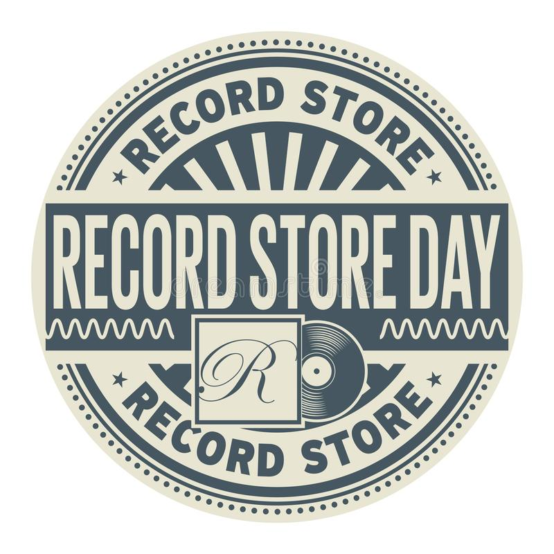 Record Store Day stamp stock illustration