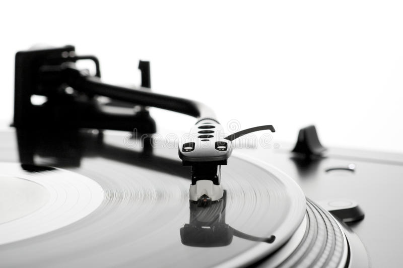 Download Record on turntable stock photo. Image of club, manual - 15987664