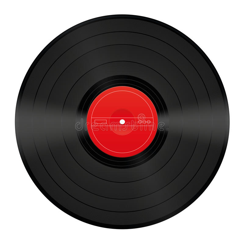 Record Vinyl Blank Stock Vector Image 51373809