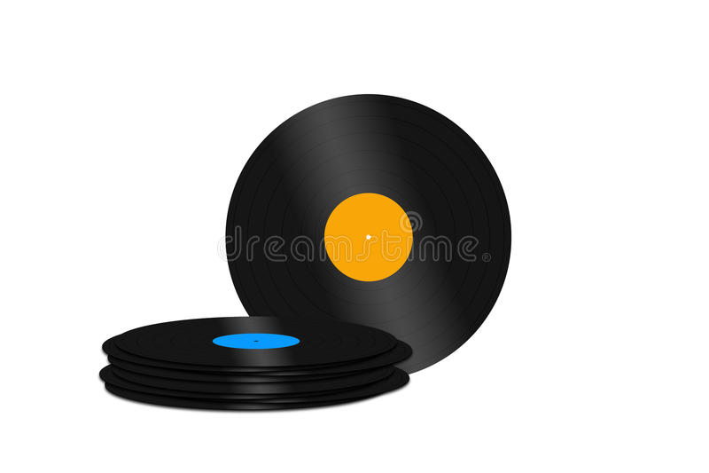 Record vinyl. Retro record vinyl music turntable royalty free illustration