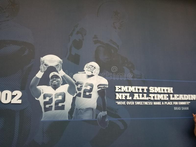 Recordação de Emmitt Smith Dallas Cowboys TX a estrela fotografia de stock