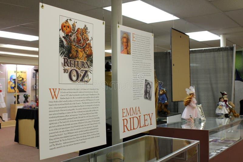 Recordação nos casos e em paredes dentro de todo o museu da onça das coisas, Chittenango, New York, 2018 fotografia de stock royalty free