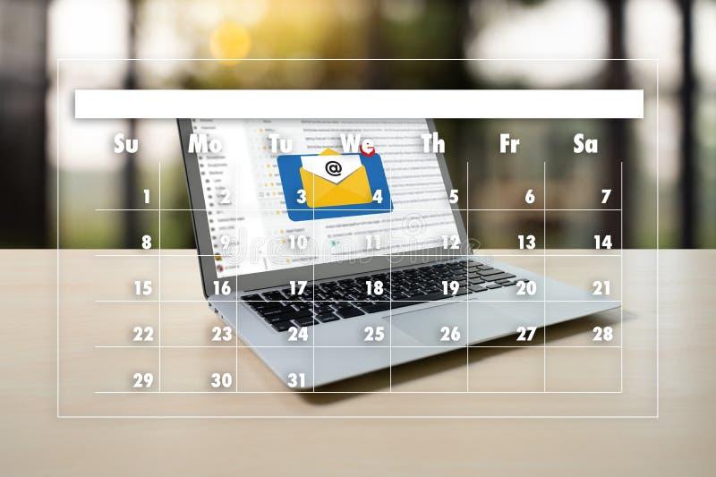 Recordatorio de la cita a hacer calendarios y organizador Agenda foto de archivo libre de regalías