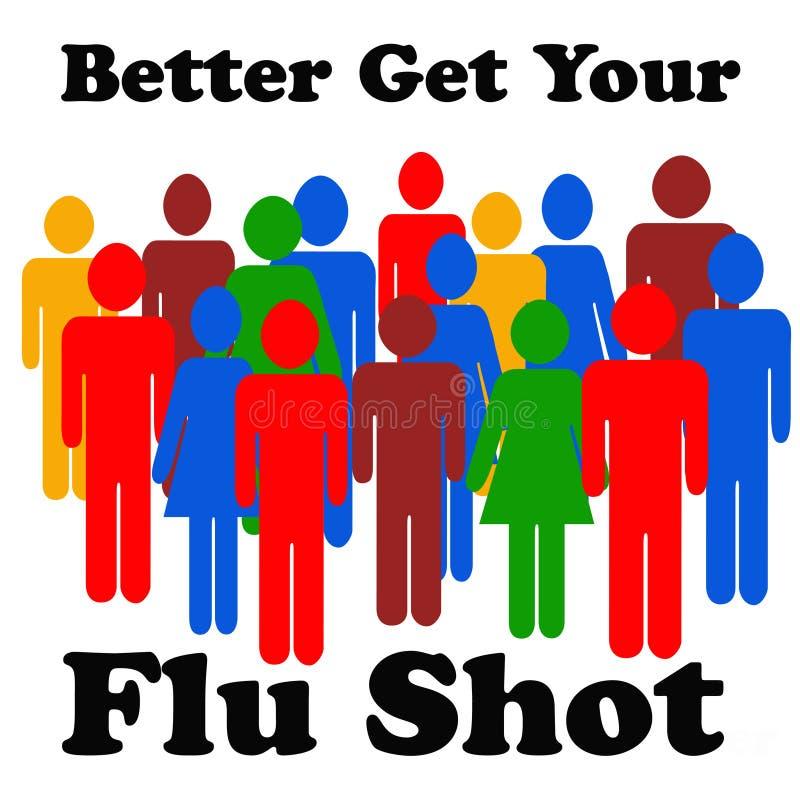 Recordatorio de la vacuna contra la gripe libre illustration