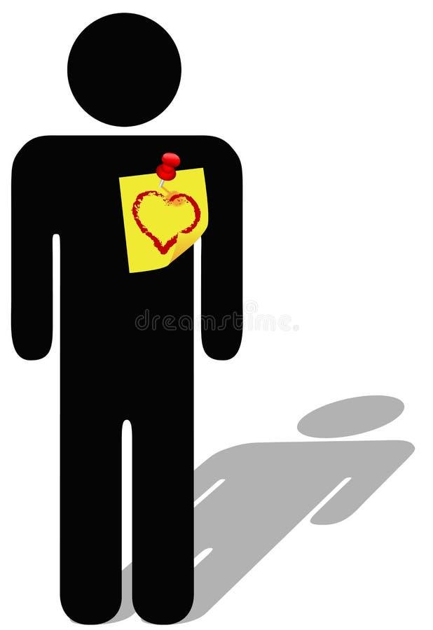 Recorde amar a nota do símbolo ilustração stock