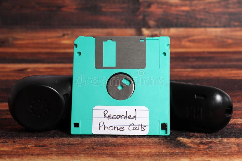 Recorded phone calls royalty free stock images