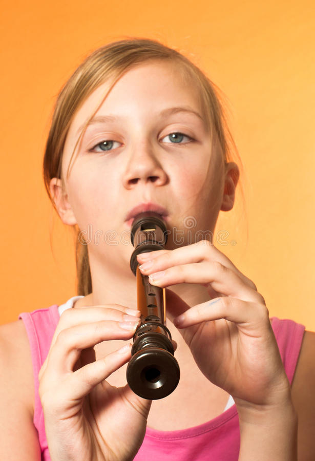 The Recorder Wind Instrument Stock Photo