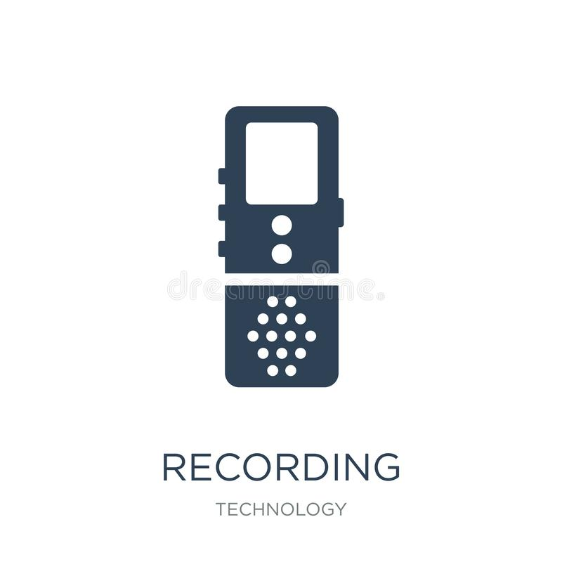 recording icon in trendy design style. recording icon isolated on white background. recording vector icon simple and modern flat royalty free illustration