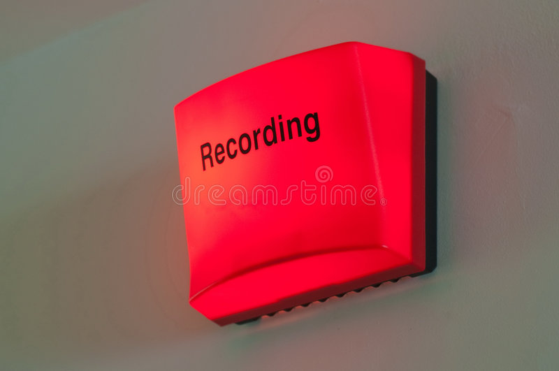 Recording Light Royalty Free Stock Photos