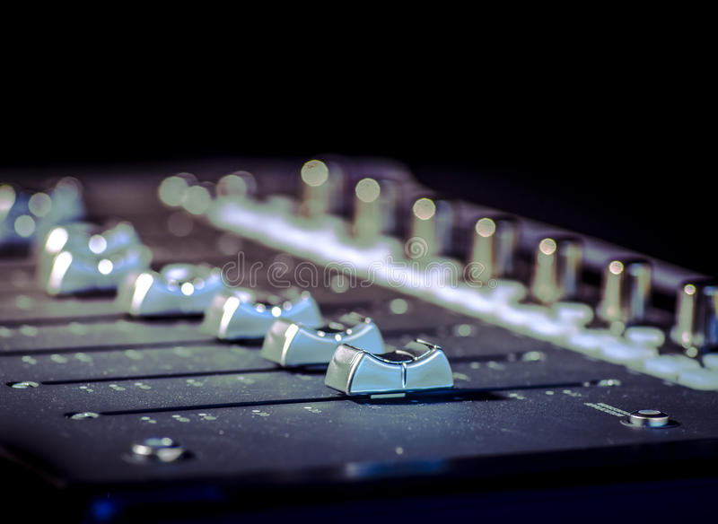 Download Recording Music Sound Studio Sliders Stock Image - Image of button, console: 45969831