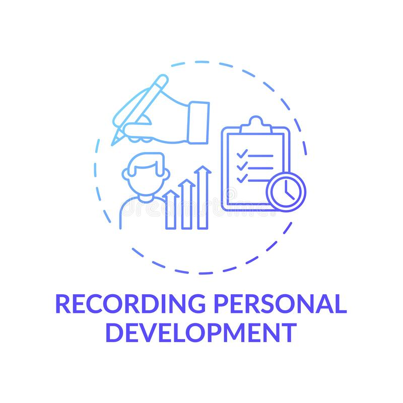 Free Recording Personal Development Blue Gradient Concept Icon Stock Photo - 214728110