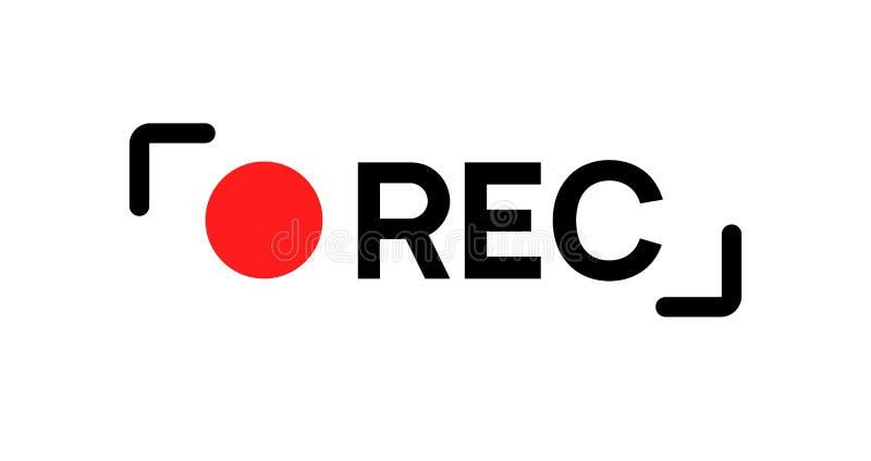 Recording Sign Icon. Red Logo Camera Video Recording Symbol, Rec ...