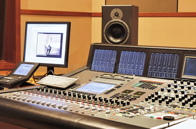 Recording studio stock images