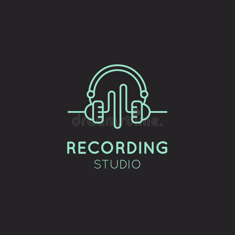 Download Recording Studio Labels Set Stock Illustration - Image: 83711746