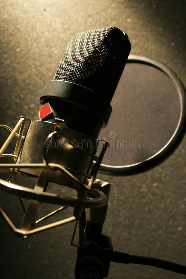 Download Recording Studio Microphone With Sound Filter Stock Photo - Image: 20434496