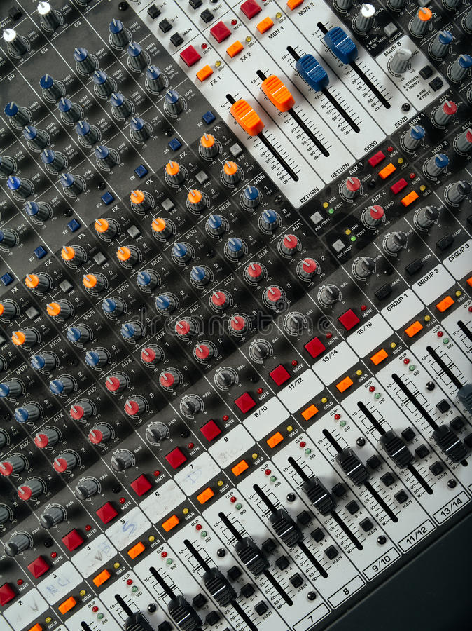 Download Recording Studio Mixing Board Stock Illustration - Illustration of editing, button: 38477104