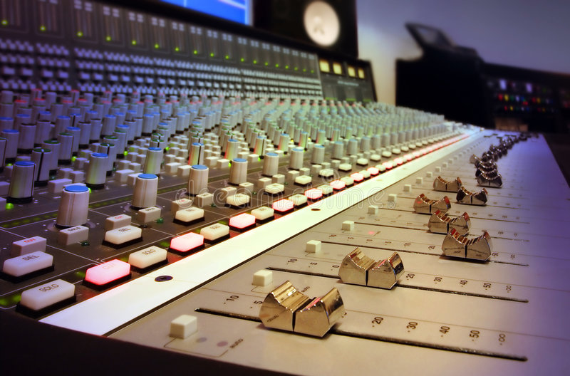 Download Recording Studio Mixing Console Stock Image - Image: 1512873