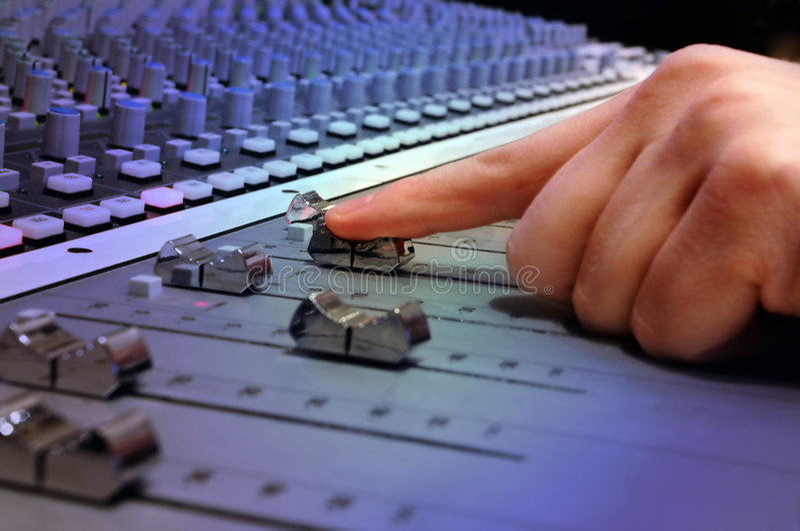 Recording Studio Mixing Console royalty free stock photos