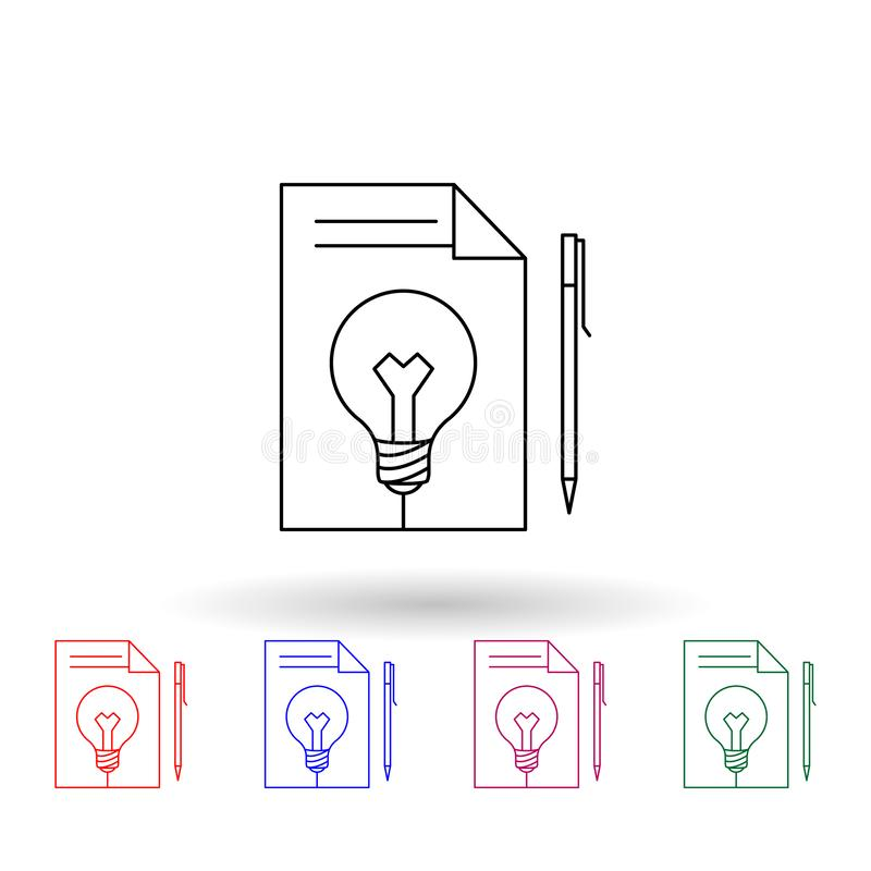 Blue Light Bulb With Icons  Vector Stock Vector