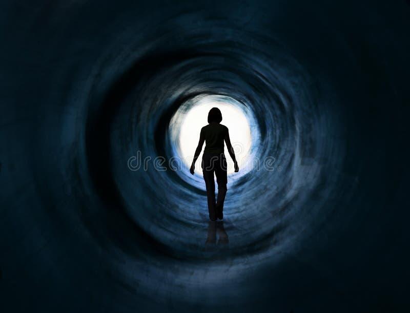 Recorra en luz. Escápese, visión de la muerte, paranormal imagen de archivo
