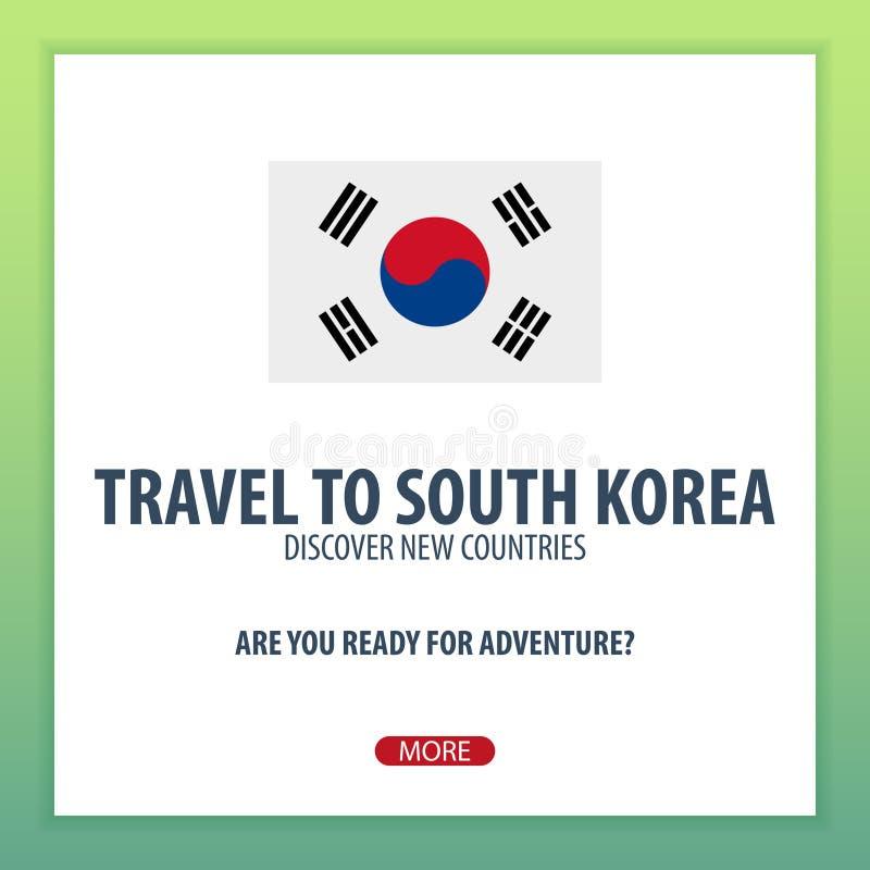 Recorrido al Sur Corea Descubra y explore los nuevos países Viaje de la aventura libre illustration