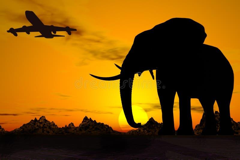 Recorrido de África. foto de archivo