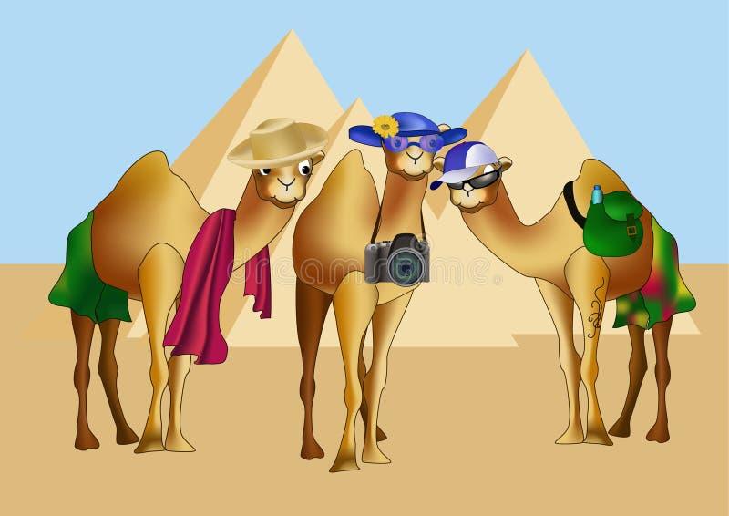 Recorrido de Egipto ilustración del vector