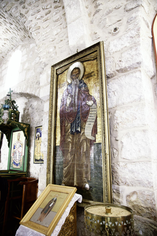 Recorrido de la calle de Jerusalén en Tierra Santa fotografía de archivo libre de regalías