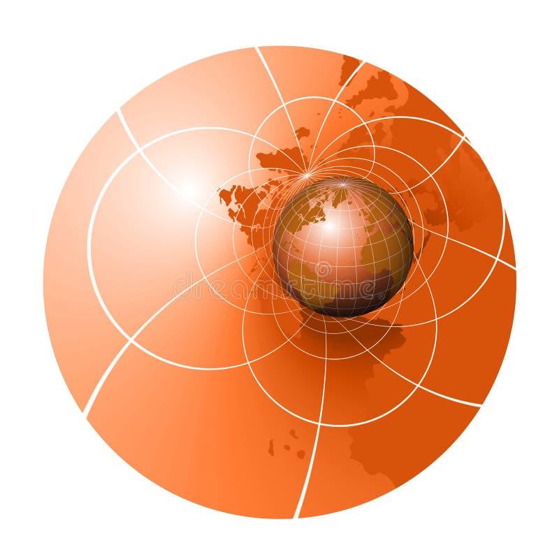 Recorrido del mundo ilustración del vector