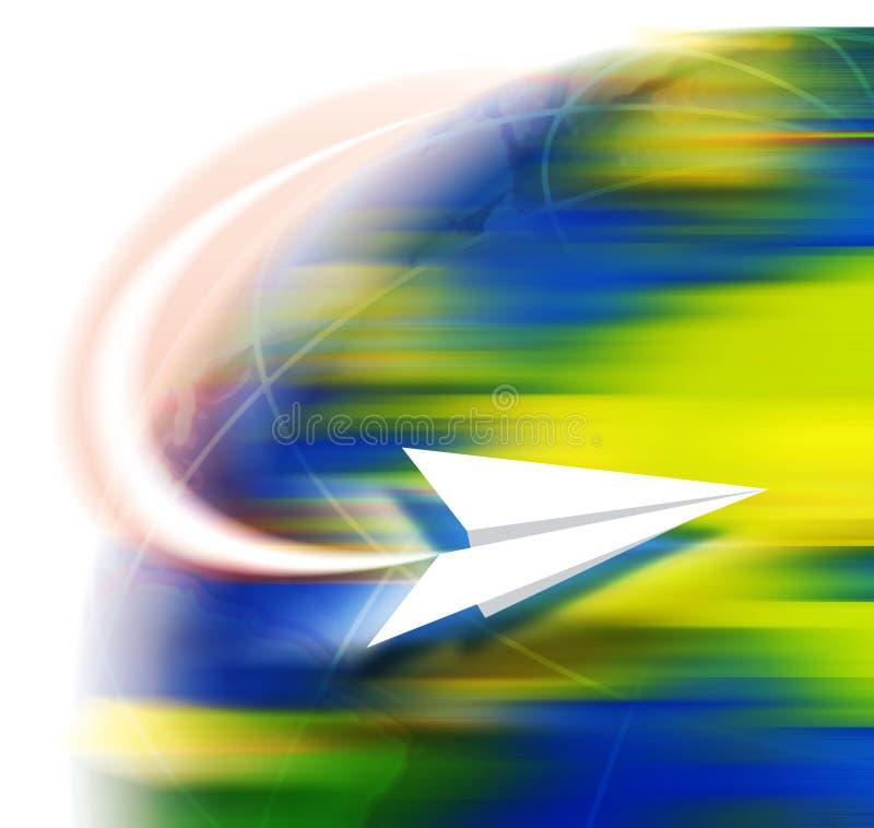 Recorrido en avión de Paper libre illustration