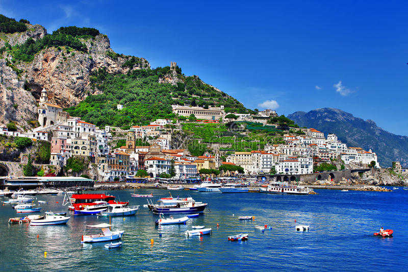 Recorrido en la serie de Italia - Amalfi imagen de archivo libre de regalías