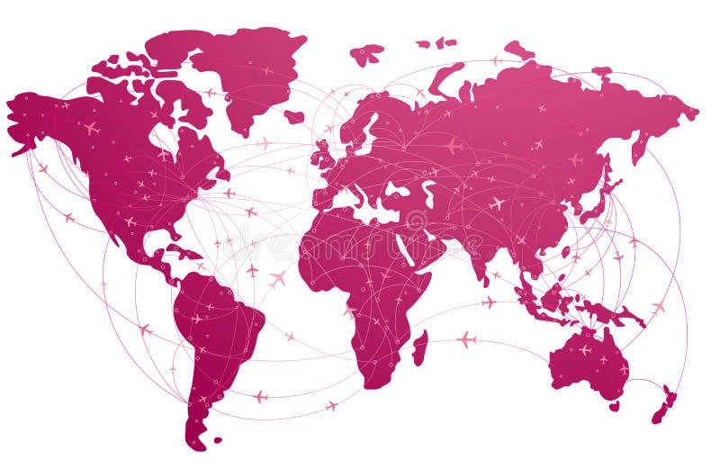 Recorrido global ilustración del vector